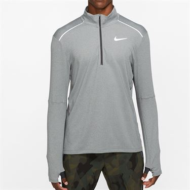 Nike Element 3.0 1/2 Zip Long Sleeve Shirt Mens Dark Smoke Grey/Heather/Reflective Silver BV4721 068