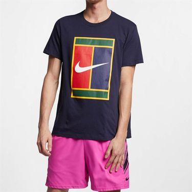 Nike Court Heritage Logo Tee - Obsidian