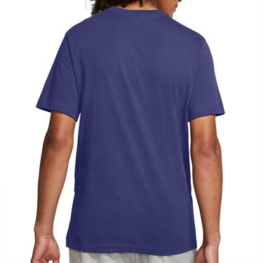 Nike Court Heritage Tee - Dark Purple Dust/White