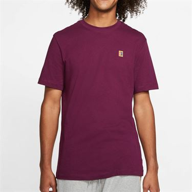 Nike Court Tee Shirt Mens Bordeaux BV5809 609