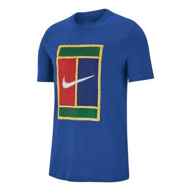 Nike Court Tee Shirt Mens Game Royal BV7010 480