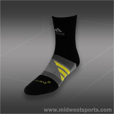 adidas Barricade Crew Tennis Sock Black