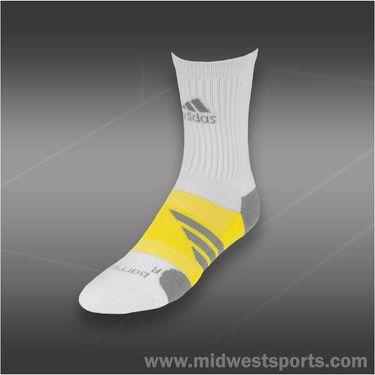 adidas Barricade Crew Tennis Sock White
