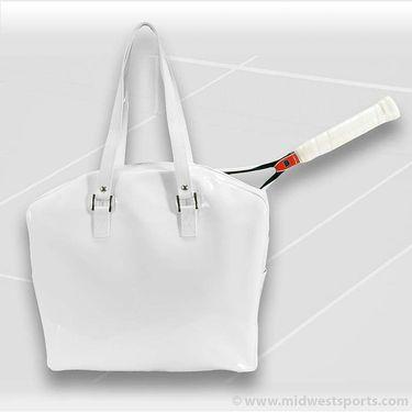 Cortiglia Belvedere White Leather Tennis Bag