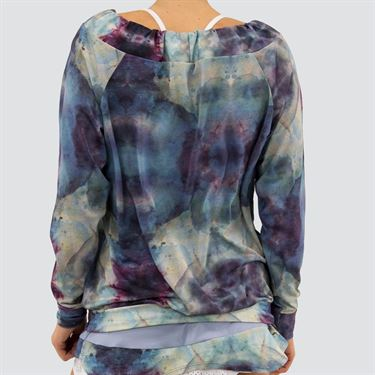 Blue Fish Galaxy Fluid Sweatshirt Womens Water C1052 WA
