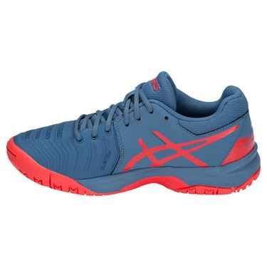 048ebf07d2ff ... Asics Gel Resolution 7 GS Junior Tennis Shoe - Azure Red Alert