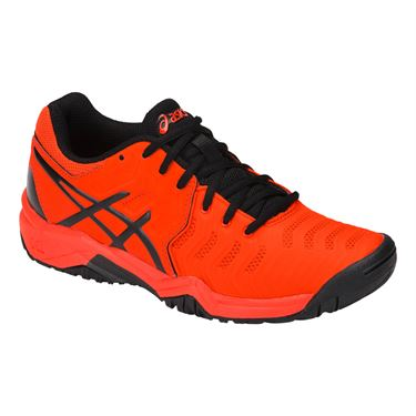 Asics Junior Gel Resolution 7 GS Tennis Shoe - Cherry Tomato/Black
