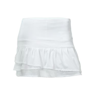 Lucky in Love Core Long Pleated Tier Skirt - White