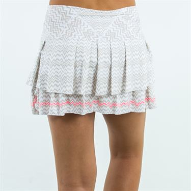 Lucky in Love High Frequency Active Fit Pulse Pleat Tier Skirt - Polar