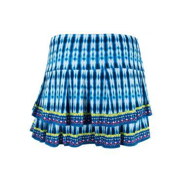 Lucky in Love Boho Sense Bohemian Pleat Tier Skirt - Paradise Blue