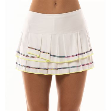 Lucky in Love Mad About Plaid Micro Stripe Skirt Womens Multi CB180 A53955
