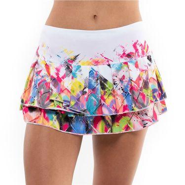 Lucky in Love On The Fence Novelty Skirt Womens White/Multi CB180 E65955