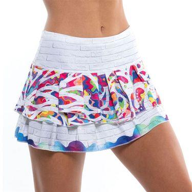 Lucky in Love On The Wall Novelty Skirt Womens White/Multi CB180 E66955
