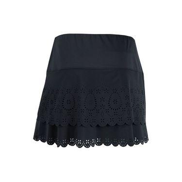 Lucky in Love Laser Long Tier Skirt - Black