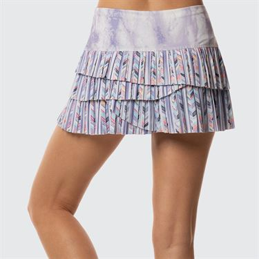 Lucky In Love Lilac It A Lot Purity Pleated Scallop Skirt - Print