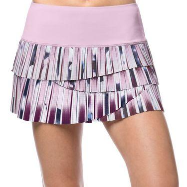 Lucky in Love Lush Daze Posh Stripe Pleat Skirt - Lavender