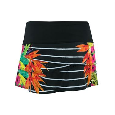 Lucky in Love Paradise Stripe Scallop Skirt - Multi Color
