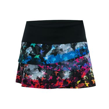 Lucky in Love Star Camo Scallop Skirt - Multi Color