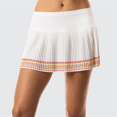 Lucky In Love Neon Vibes Pleated Skirt - White/Neon