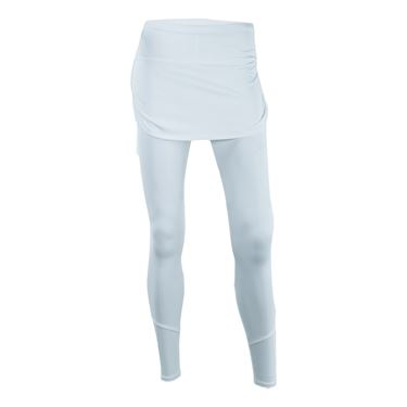Lucky in Love Ruched Skirt Legging - White