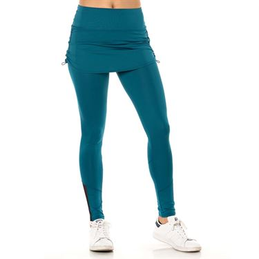Lucky in Love Monarch Ruched Skirt Legging - Poseidon