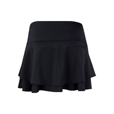 Lucky in Love Hyper Wave Long Flip Tier Skirt - Black