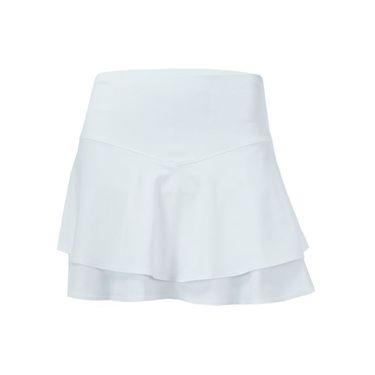 Lucky in Love Long Flip Tier Skirt - White