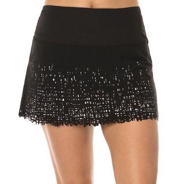 Lucky in Love Laser Scribble Long Skirt - Black