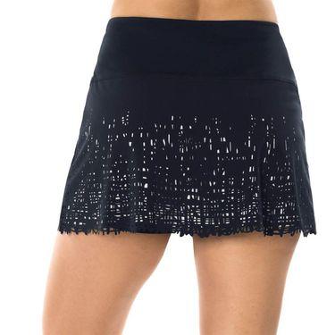 Lucky in Love Laser Long Scribble Skirt - Midnight