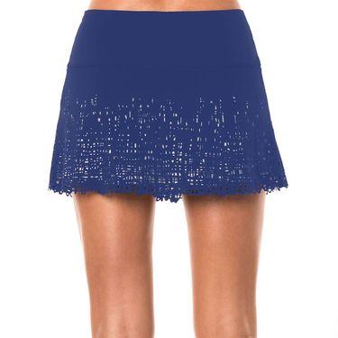 Lucky in Love Laser Scribble Long Skirt - Parisian Blue