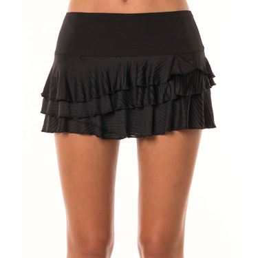 Lucky in Love Monarch Shadow Stripe Rally Skirt - Black