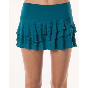 Lucky in Love Monarch Shadow Stripe Rally Skirt - Poseidon