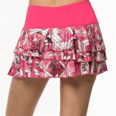 Lucky In Love Tropic Chroma Rally Skirt Womens Shocking Pink CB266 822645