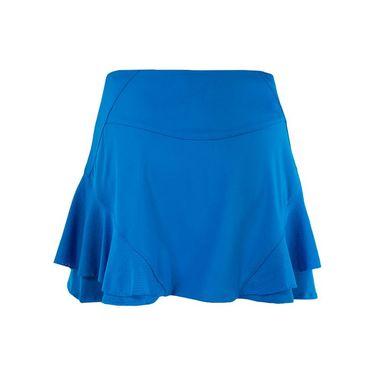 Lucky in Love Boho Sense Long Sidekick Skirt - Paradise Blue