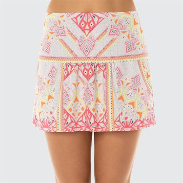 Lucky In Love Neon Vibes Pocket Skirt - Coral Crush