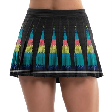 Lucky in Love Square Are You Long Squared Up Pleated Skirt Womens Black CB282 E18001