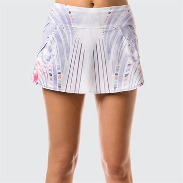Lucky In Love Lilac It A Lot Running Skirt - White/Lilac Print