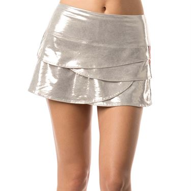 Lucky in Love Go For the Metal Olympian Scallop Skirt - Silver