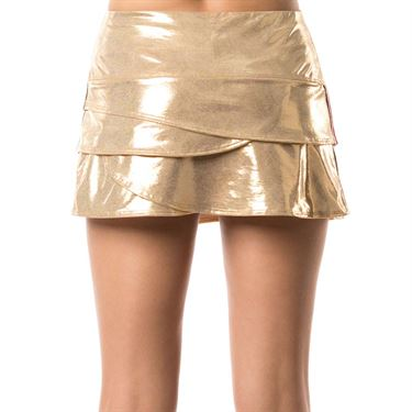 Lucky in Love Go For the Metal Olympian Scallop Skirt - Gold