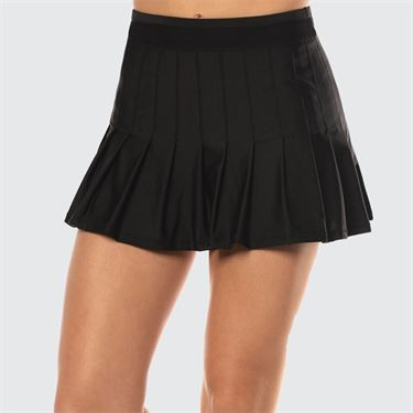 Lucky in Love Long Retro Pleated Skirt - Black