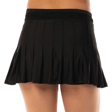 Lucky in Love Long Retro Pleated Skirt Womens Black CB287 001