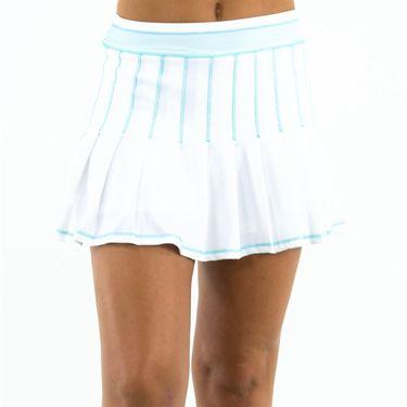 Lucky in Love Las Palmas Long Retro Pleated Skirt - White
