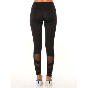 Lucky in Love Monarch Moto Mesh Legging - Black/Poseidon