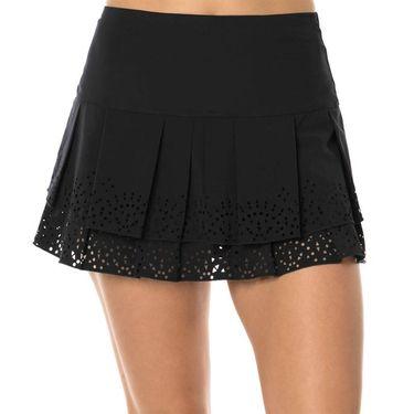 Lucky in Love Laser Long Sunrise Border Skirt - Black