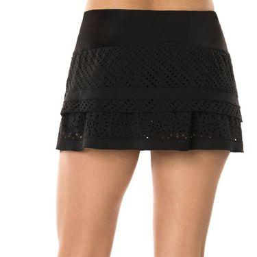 Lucky in Love Laser Sunrise Tier Skirt - Black