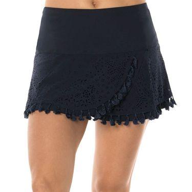 Lucky in Love Laser Tassel Skirt - Midnight