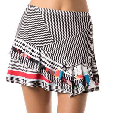 Lucky in Love Bloomy Dimensions Long In Bloom Skirt - Bloomy Print/Crimson