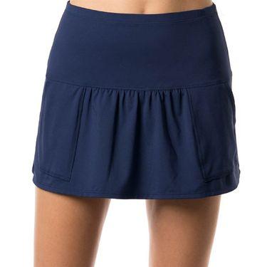Lucky in Love Shape It Up Long Pocket Skirt - Blueberry