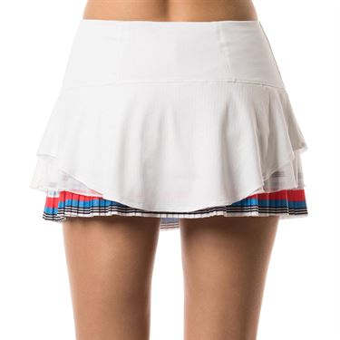 Lucky in Love Bloomy Dimensions Beeline Pleated Skirt - White