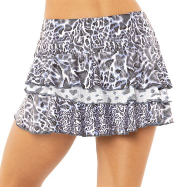 Lucky in Love On The Prowl Party Animal Skirt Womens Charcoal CB315 C41040